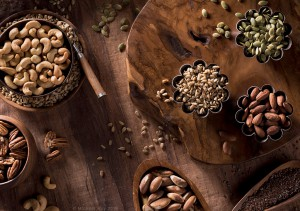 Food Photography of assorted nuts