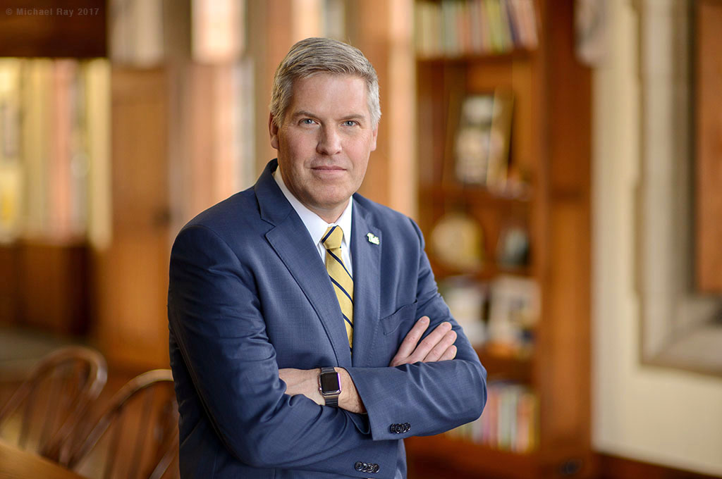 Location Business Portrait of University of Pittsburgh Chancellor Patrick Gallagher