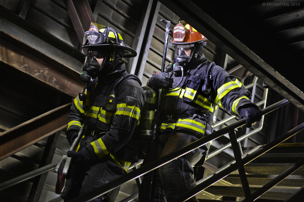 Pittsburgh Industrial Photographer Shoots Fireman
