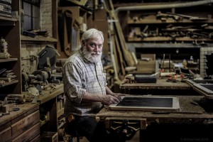 Portrait of woodworker