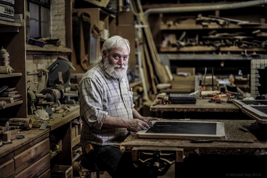 Portrait of woodworker