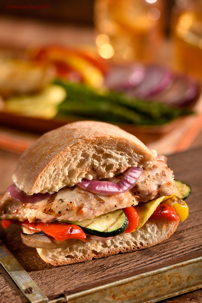 Veggie & Chicken Sandwich Photo