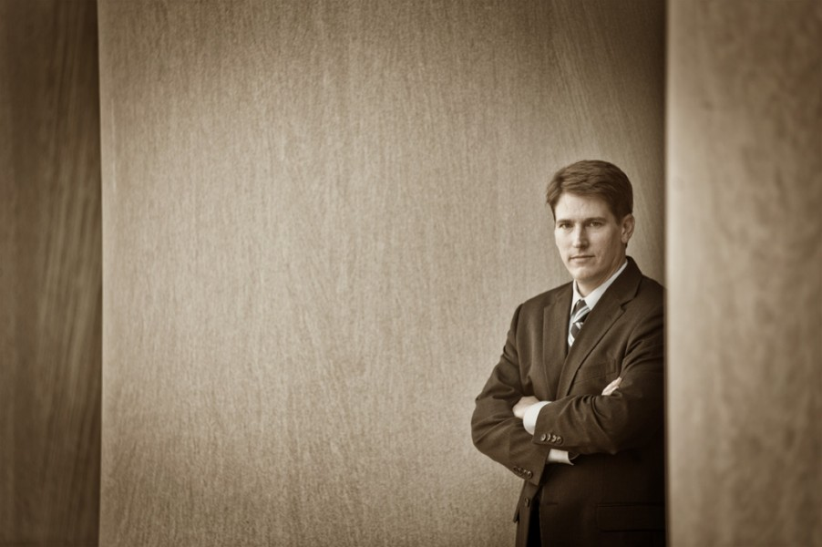 Black and white business portrait Pittsburgh