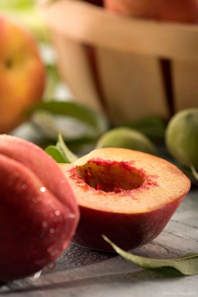 food photography of peach