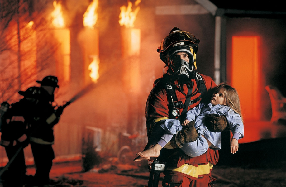 Firefighter Saving Girl